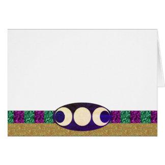 Tarjeta Elija su oro verde púrpura del color y luna triple