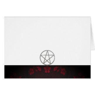 Tarjeta Elija su rojo del color y espacio en blanco de la