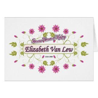 Tarjeta ~ Elizabeth Van/mujeres famosas de Lew de los