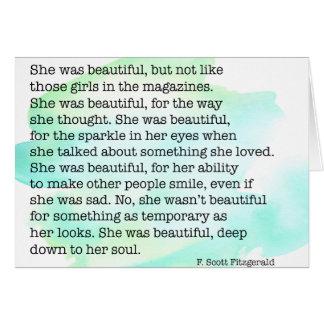 Tarjeta Ella era hermosa