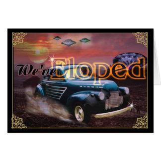 Tarjeta Eloped - perseguido por el UFO