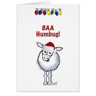 Tarjeta Embaucamiento del BAA del navidad de las ovejas