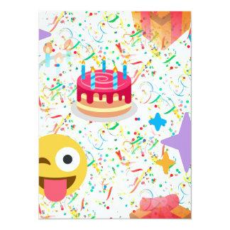 Tarjeta emoji del feliz cumpleaños