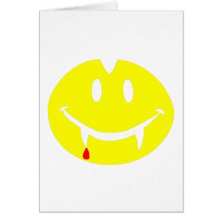 Tarjeta emoji Drácula del vampiro