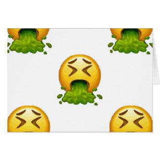 Tarjeta emoji puking