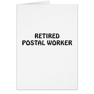 Tarjeta Empleado de correos jubilado