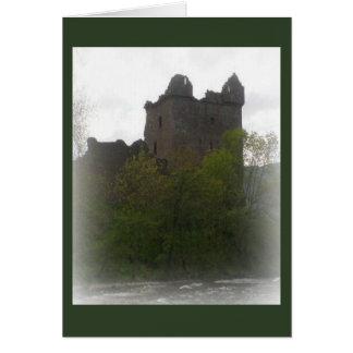 Tarjeta en blanco, castillo escocés