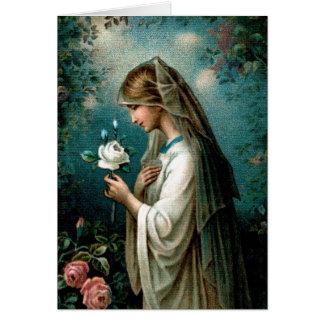 Tarjeta en blanco: Color de rosa místico