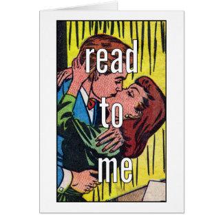 Tarjeta en blanco CÓMICA el   leído a mí
