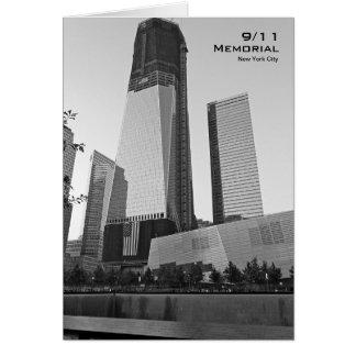 Tarjeta en blanco conmemorativa BW8 de 911 NYC