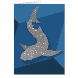 Tarjeta en blanco de ballena del tiburón del arte