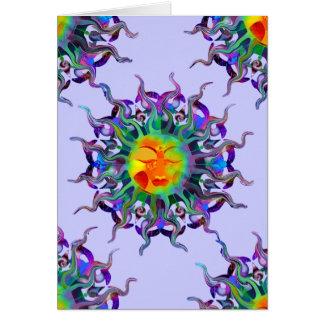 Tarjeta en blanco de Chakra Sun
