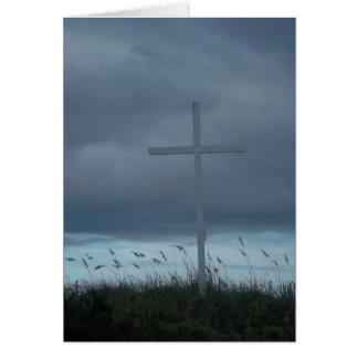 Tarjeta en blanco de la foto de la nota de Pascua