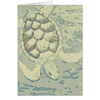 Tarjeta en blanco de la tortuga del fantasma