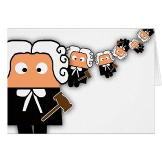 Tarjeta en blanco del abogado