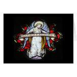 Tarjeta en blanco del ángel del navidad