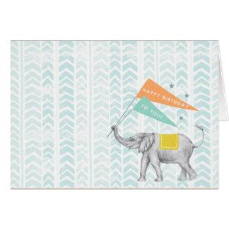 tarjeta en blanco del elefante