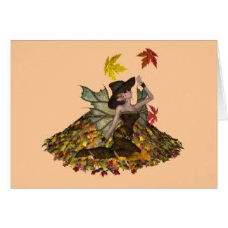 Tarjeta en blanco del Faery del otoño del KRW