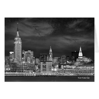 Tarjeta en blanco del horizonte de New York City