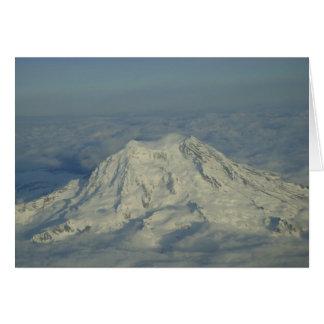Tarjeta en blanco del Monte Rainier