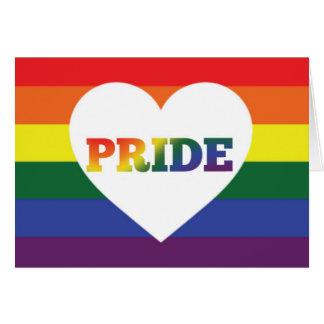 Tarjeta en blanco del orgullo del arco iris LGBT