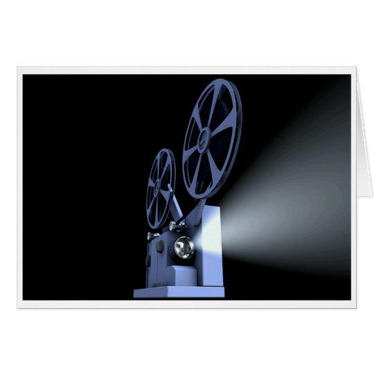 Tarjeta en blanco del proyector de película
