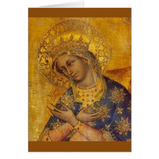 Tarjeta en blanco del Virgen María