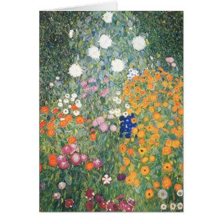 Tarjeta en blanco - el jardín de flores