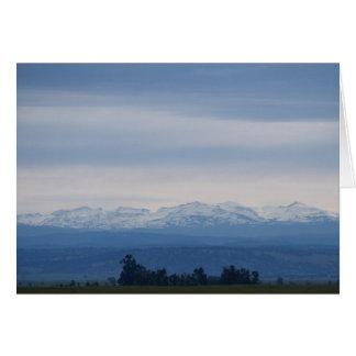 Tarjeta en blanco, horizonte de Sierra