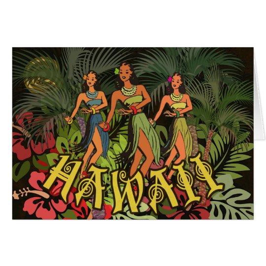 Tarjeta en blanco intrépida de Hawaii de la