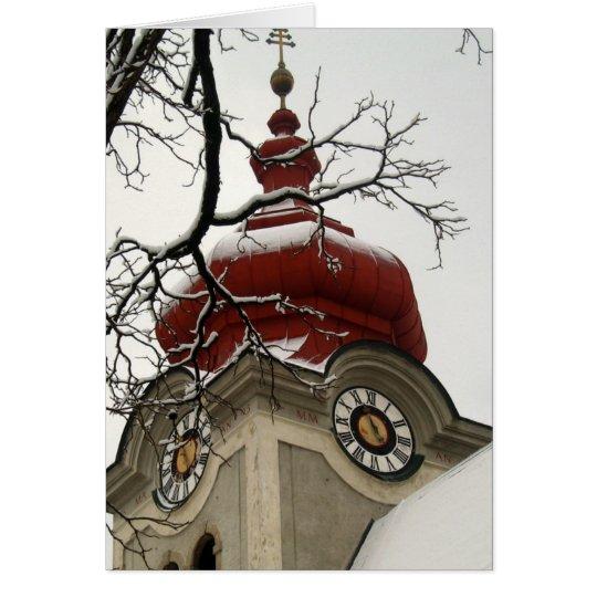 Tarjeta en blanco Nevado Salzburg
