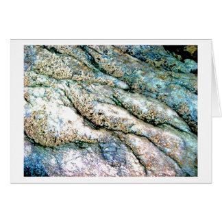 Tarjeta en blanco ondulada Notecard de la roca