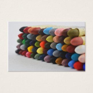 Tarjeta en colores pastel de la paleta del aceite