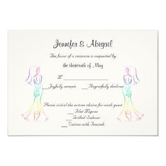 Tarjeta en colores pastel de la respuesta del boda