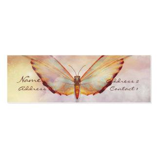 Tarjeta en colores pastel del perfil de la plantillas de tarjetas de visita