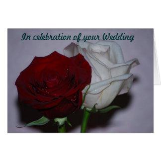 Tarjeta En conmemoración de su boda