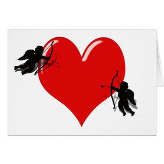 Tarjeta en duelo de los Cupids