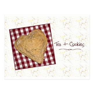 Tarjeta en forma de corazón de la galleta postal