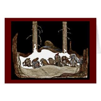 Tarjeta En la noche de navidad -