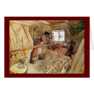 Tarjeta En la tienda del carpintero