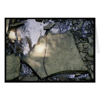 Tarjeta En las rocas