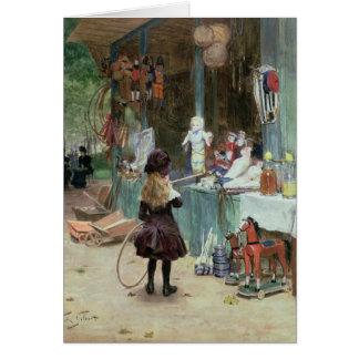 Tarjeta En los jardines de Champs-Elysees, c.1897 (aguazo