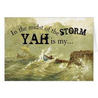 Tarjeta En medio del estímulo de la tormenta