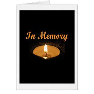 Tarjeta En resplandor de la vela de la memoria