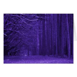 Tarjeta encantada del bosque