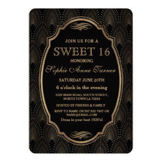 Tarjeta Encante el gran Gatsby dulce 16 del art déco del
