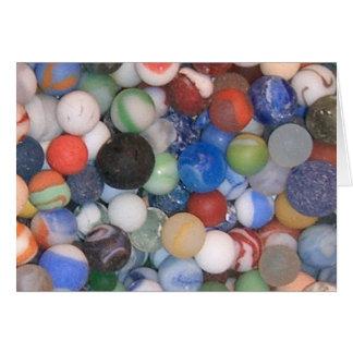 Tarjeta Encontrado en los mármoles de la playa