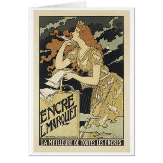 Tarjeta Encre L. Marquet, Eugene Grasset