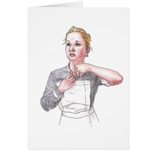 Tarjeta - enfermera del hospital de Middlesex que