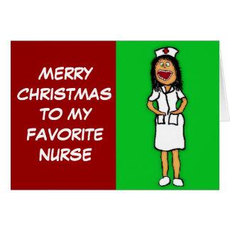 Tarjeta Enfermera preferida de las Felices Navidad